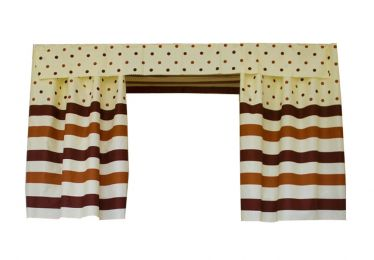 Bed Curtain Dormitory Shading Cloth Dormitory Decoration BROWN Stripes