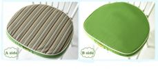 Creative Horseshoe Chair Cushion Polyester Fabrics Chair Pad (Green Stripe)