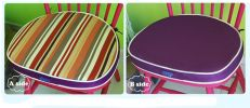 Creative Horseshoe Chair Cushion Polyester Fabrics Chair Pad (Purple Stripe)