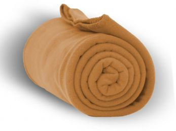 "Premium Fleece Blanket 50"""" x 60"""" - Camel Case Pack 24"