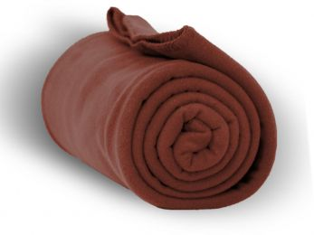 "Premium Fleece Blanket 50"""" x 60"""" - Cocoa Case Pack 24"