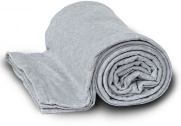 Deluxe Heavyweight Sweatshirt Blanket - Heather Gray Case Pack 24