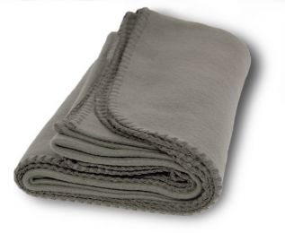 "Medium Weight Fleece Blanket 50"""" x 60"""" - Gray Case Pack 36"