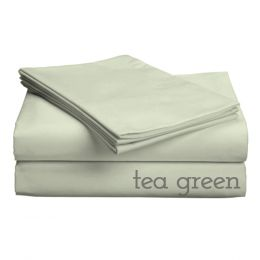 "Classic Collection-300ct Combed Cotton Percale Weave Deep Pocket Upto 18"""" Pocket Sheet Sets Twin XL Tea Green"