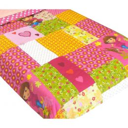 Dora Explorer Puppy Patchwork Full Bed Comforter