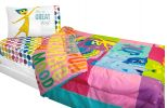 Inside Out Twin-Full Comforter Rainbow Ombre Bedding