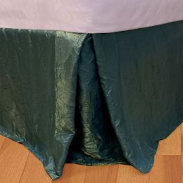 Iridescent Green Twin Bedskirt Solid Color Bedding Accessory