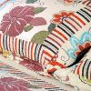 [Shaine] Cotton 3PC Floral Vermicelli-Quilted Printed Quilt Set (Full/Queen Size)