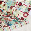 [Dianthe] Cotton 3PC Floral Vermicelli-Quilted Printed Quilt Set (Full/Queen Size)
